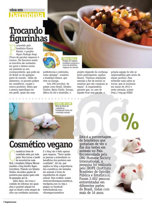 Escolha Vegan Cosméticos Na Revista dos Vegetarianos